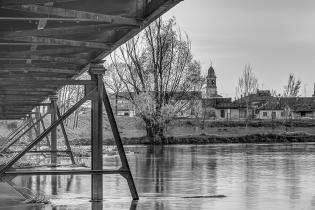 Scorcio sul fiume Oglio a Isola Dovarese, foto di Pierangelo Lusvardi