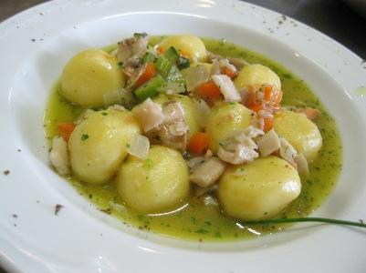 Gnocci di patate con guazzetto d'acqua dolce