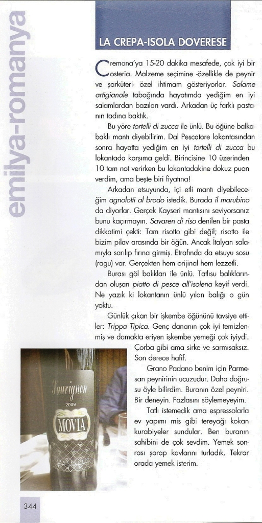 Guida ITALYA di Vedat Milor (Turchia), Marzo 2014