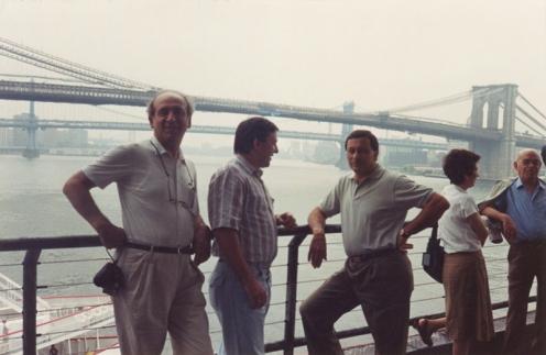 1988: Malfassi, Franco Malinverno e Giuseppe Meregalli sul Ponte di Brooklin (New York)