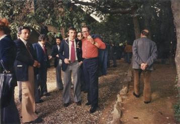 1980: Franco Malinverno con Luigi Veronelli al congresso AIS in Sardegna (presso Sella&Mosca)