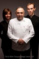 2011 da sinistra: Greta, Franco e Federico Malinverno ritratti da Oliviero Toscani